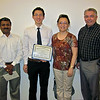 Center Intern Receives College Citation : On May 28, 2011, Mr. Quoc Sinh Le received the College of Biological Sciences Departmental Citation in Molecular and Cell Biology.  Sinh was an undergraduate intern in the Center of Excellence in Nutritional Genomics working under the supervision of Center scientists, Drs. Liping Huang, Somen Nandi and Center Director, Raymond Rodriguez.  Sinh was one of 23 students to receive this prestigious award from the College. The Departmental Citations for Outstanding Performance are awarded to students who have achieved academic excellence in their majors and demonstrated exceptional skill and creativity in the research laboratory. Students must be nominated by faculty members in their major to be considered for the award. Nominees are then reviewed and selected by the University Committee on Undergraduate Scholarships, Honors and Prizes based their academic record and supporting letters from their research professor. Congratulations, Sinh!